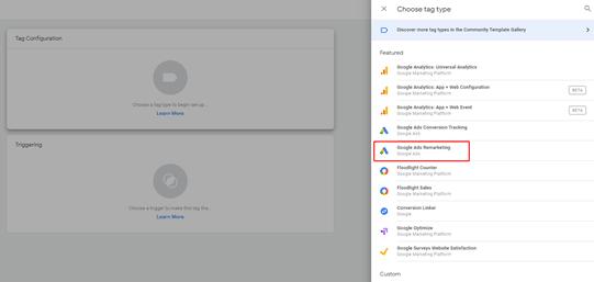 יצירת תג Google Ads Remarketing